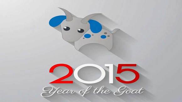 Chúc mứng năm mới với bộ hình nền năm mới chủ đề Dê