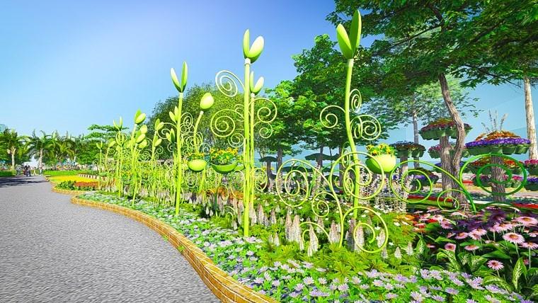 lung linh đường hoa Tết Ất Mùi ở Sài Gòn