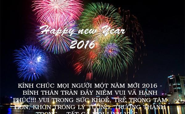 Hình ảnh chúc mừng năm mới 2016 đẹp và ý nghĩa